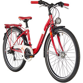 s'cool chiX 26 21-S Juniorcykel Børn steel rød